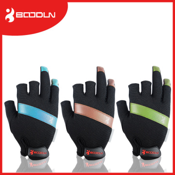 Equipamento de pesca sem deslizamento 3 Half-Fingers Waterproof Fishing Gloves