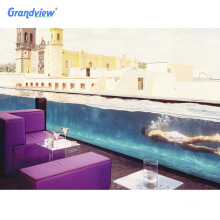 Customized thick acrylic sheet large size clear swimming pools