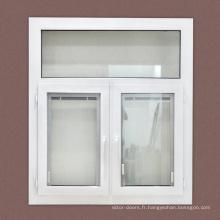 Fenêtres à battants en pvc personnalisées avec persienne interne