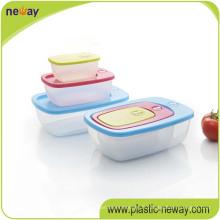 Boîte à lunch en plastique hermétique Foodgrade micro-ondes