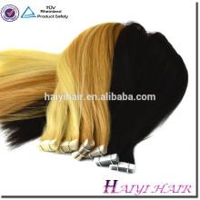 Высокое качество 100 европейских ленточное наращивание волос Реми