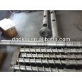 Barril y tornillo para extrusora de plástico