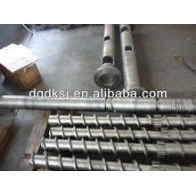 Barril e parafuso para máquina de extrusão de plástico