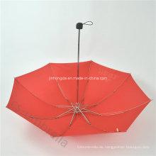 Red Canopy 4 Falten oder Taschenschirm mit Logo (YS4F0006)