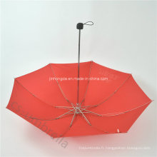 Parapluie rouge 4 pli ou parapluie pliant avec le logo (YS4F0006)