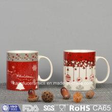Decalque do design do Natal Caneca De Cerâmica