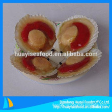mainly supply frozen half shell scallop with good quality and competitive price