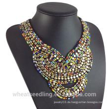 Europa Aliexpress Art- und Weiseböhmen-Indien-Troddel-Korn-Halsketten-Halsketten-Halskette