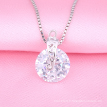 Collier de bijoux en argent de mode, pendentif de moulage, bijoux de diamant d'imitation