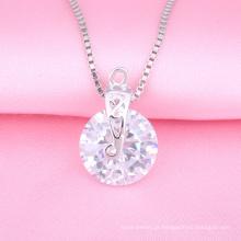 Colar da jóia da prata da forma, pendente de moldação, jóia de imitação do diamante