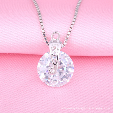Fashion Silver Jewelry Necklace, Casting Pendant, Imitation diamond jewelry