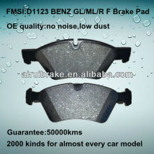 D1123 compound technology brake pads of BENZ GL/ML/R