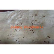 Poplar Burl Wood Veneer Sliced Cut For Restaurant / Hotel Decoration
