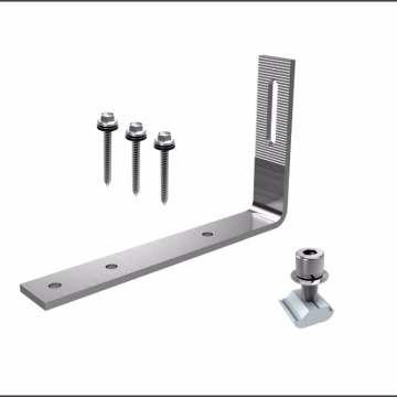 Fast Installation Solar Mounting Structure Stainless Steel Solar Bracket Roof Hook For Shingle Tile Roof