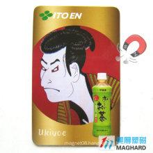 Rectangle Advertisement Paper Fridge Magnet Japanese Samurai