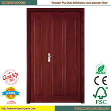 Barato puerta Interior Panel de madera puertas puerta piel