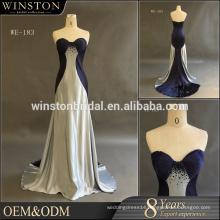 China supply all kinds of cheap bridesmaid navy blue dress