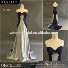 China fornece todos os tipos de vestido barato da dama de honra azul marinho