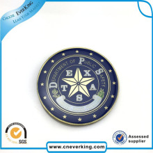 Round Metal Badge Pin with Custom Logo