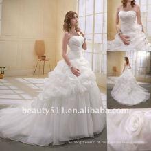 Astergarden Fashion beading A-line organza de flores Veils como presente Noblest Vestido de noiva vestido de erva daninha MA-003