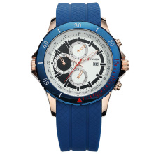 Focus CURREN Silicon Band Quartz Reloj Hombres