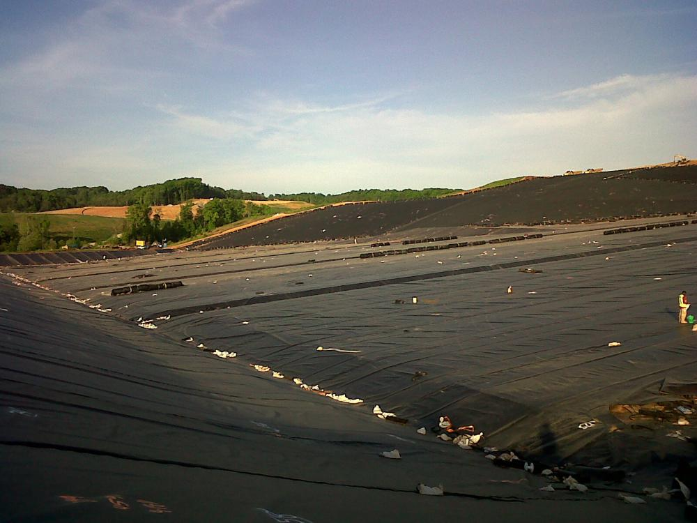 1.0mm Ketebalan Air Bukti Geomembrane HDPE