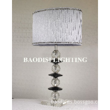 Stainless steel in chrome color pendant lamp, with crystal