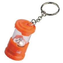 LED 2 * CR2032 plast mini nyckelring lampa