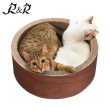 Guaranteed Quality Pet Toys Cat Scratcher round shaped cat house RCS-8016