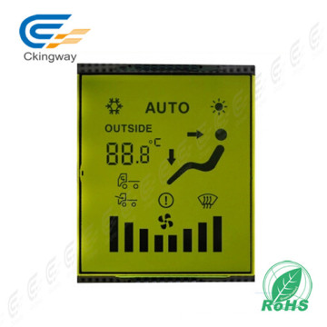 Yellow Green Character Tn Type Transmissive Positive LCD Display Panel