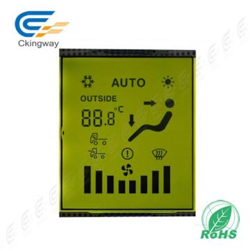 Painel de exibição de Transmissive Positivo LCD Tn Tipo Caráter Verde Amarelo