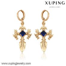 Senhoras da religião dos brincos da cruz do ouro da jóia 27927-Xuping