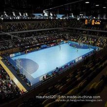 Revestimento dos esportes do PVC da venda de Facroty para a corte do basquetebol / handball