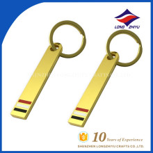 Personalized cheap custom magnetic gold keychain