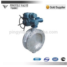 electric three-eccentric center flange connection butterfly valve for hot new product