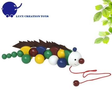 Kinder guter Freund Holz Anole Pulling Spielzeug für Kleinkinder