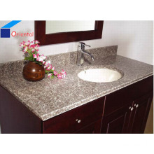 Bathroom Granite Stone Vanity Top with One Oval Sink