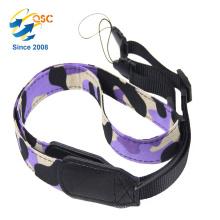 Hersteller Custom Fashion Camouflage Farbe Nylon und PU Kamera Umhängeband