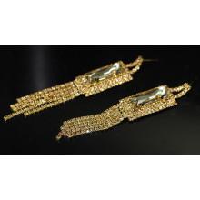 2015 Promotion Fashion Elegant Gold Drop Crystal Stud Earrings