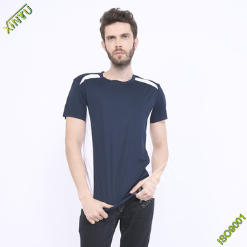 Custom Mesh Fabric Crew Neck Dri Fit T Shirt
