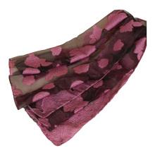 New style women long cotton linen blend embroidery lace trim cotton long muslim Lace floral hijab scarf
