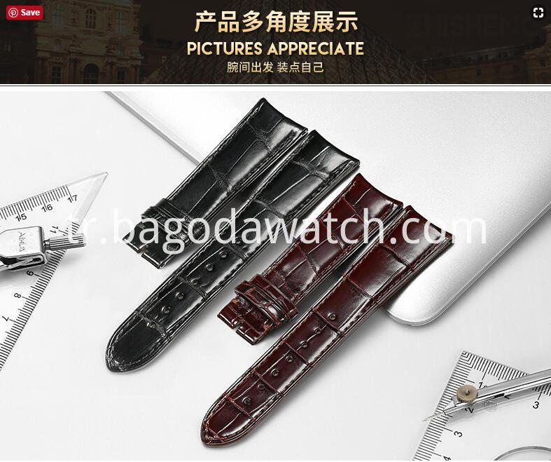 genuine crocodile watch bands