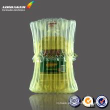 venta caliente aceite de oliva botella aire columna bolso hecho en China
