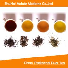 Thé traditionnel au thé noir et thé Puer