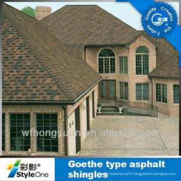 Tuile de toiture de Brown / bardeau d'asphalte de Johns Manville / matériau de toiture auto-adhésif (ISO)