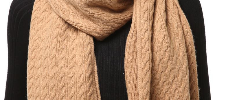 Pure cashmere knitted scarf -6