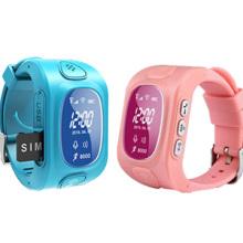 Mini montre imperméable de sécurité d'enfants de GPS avec 2 deux communiquent d'appel, traçage de carte de Google, charge magnétique (WT50-KW)