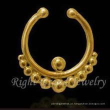 Ouro não perfurando o nariz de septo anel nariz indiano perfurando o nariz de ouro