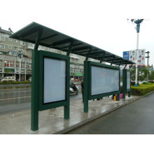 Modern Metal Painted Bus Stop Shelter Canopy Booth Kiosk