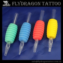 Multi Color ABS Tattoo Disposable Grips with Clear Tips